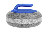 Side view of curling stone