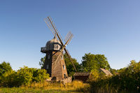 Old windmill on the island Oeland, Sweden