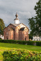 Novgorod. Old brick church