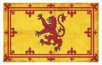 Grunge flag of Scotland (Royal Standard)