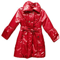 Childs outdoor red warm jacket