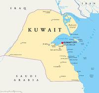 Kuwait Political Map