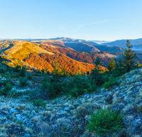 Morning in autumn Carpathian.