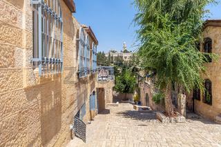 Mishkenot Sha'ananim  neighborhood in Jerusalem.