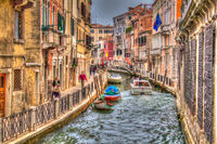Little Waterstreet in Venice, Italy