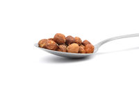 Haselnuesse - Hazelnuts  on spoon