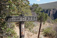 Black canyon of the Gunnison visitor center sign