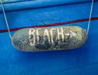 Boat Beach Access Sign