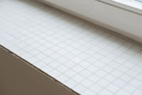 Window sill from mosaic tiles