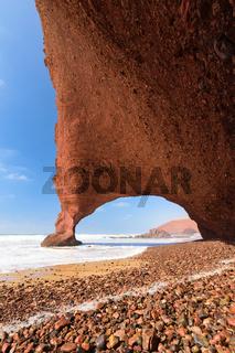 Red arch beach Legzira