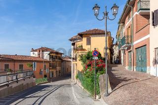 Small town of La Morra, Italy.
