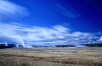 Blick auf das Lower Geyser Basin Yellowstone National Park