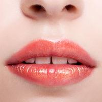 Closeup shot of female lips