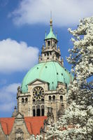 Hanover - New Town Hall in spring