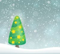 Stylized Christmas tree topic image 6 - picture illustration.