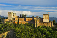 Alcazaba of the Alhambra, UNESCO World Heritage Site, Granada, Andalusia, Spain