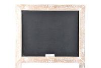 Schultafel auf weißem Hintergrund - Black board on white background
