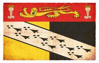 Grunge flag of Norfolk (Great Britain)