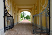 Gate of Grand Menshikov palace in  Oranienbaum – Lomonosov,