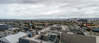 Panorama of downtown Los Angeles with cloudy sky