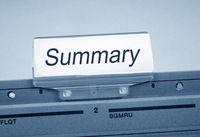 Summary Register Folder Index