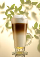 Latte Macchiato whit monin syrup