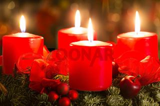 Adventskranz, advent wreath