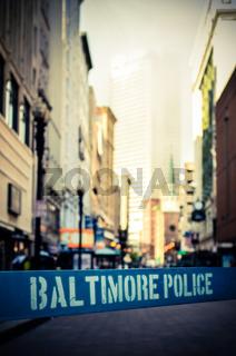 Baltimore Police Barrier