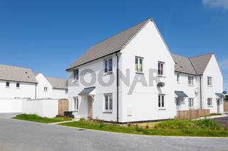 New english white houses