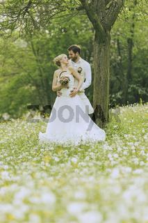 Garden Wedding Couple