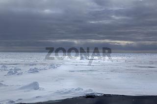 Packeisgrenze, Arktischer Ozean, Insel Spitzbergen, Inselgruppe Spitzbergen, Svalbard und Jan Mayen, Norwegen, Europa