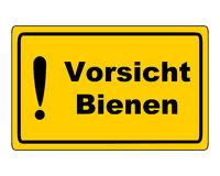Zusatzzeichen auf weißem Hintergrund - Additional sign on white background