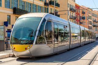 Tram in Nice, France.