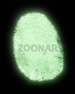 glowing fingerprint