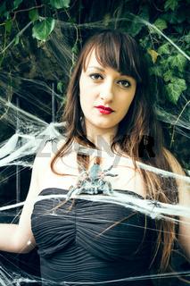 Woman in the cobweb