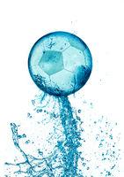 Splash soccer balll isolated