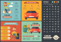 Transportation flat design Infographic Template