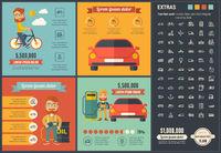 Transportation flat design Infographic Template