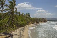 Secluded beach near Palomino (Colombia)
