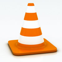 orange highway traffic cone