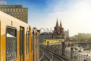 Berlin Ubahn Trains at Oberbaumbridge