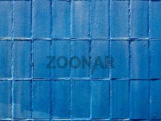 Gemauerte Wand in blauer Farbe als Hintergrund