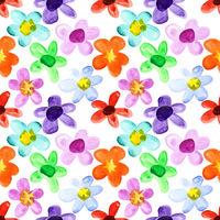 Multicoloured seamless floral pattern