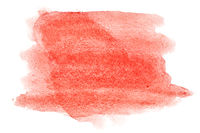 Red watercolor strokes