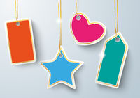 Colored Golden Price Stickers Golden Ribbons PiAd