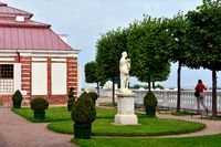The Monplaisir Palace in the Lower Garden, Peterhof