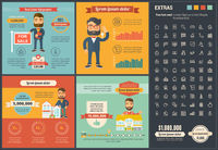 Real Estate flat design Infographic Template