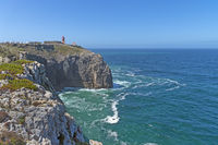 The lighthouse on the cliffs of Cabo de Sao Vicente