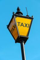 Taxi sign in London, UK