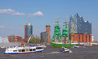 Alexander von Humboldt II at the 827th Birthday of the Port of Hamburg 2016, Germany